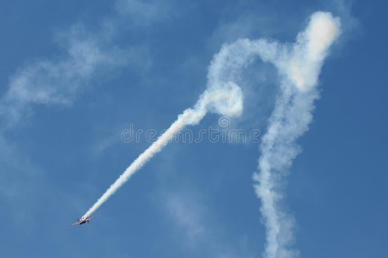 powietrzny wyczyn kaskaderski fotografia royalty free
