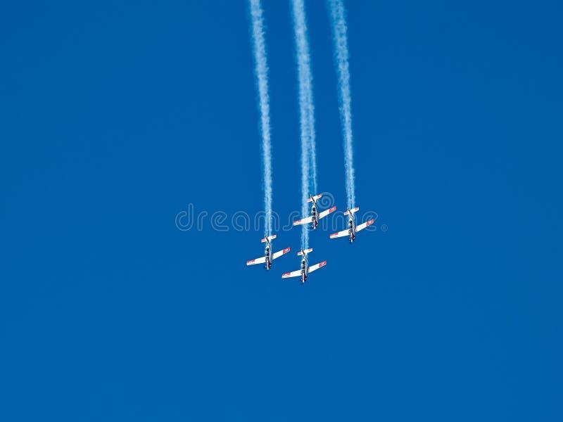 Powietrznych aerobatics Izraelicka siły powietrzne na Izrael dniu niepodległości obraz stock