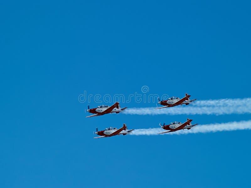 Powietrznych aerobatics Izraelicka siły powietrzne na Izrael dniu niepodległości obrazy royalty free