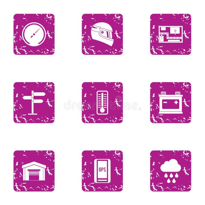 Powikłane ikony ustawiać, grunge styl ilustracji