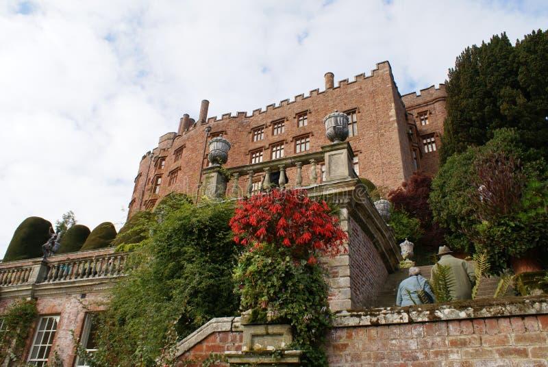 Powis城堡在英国 免版税图库摄影