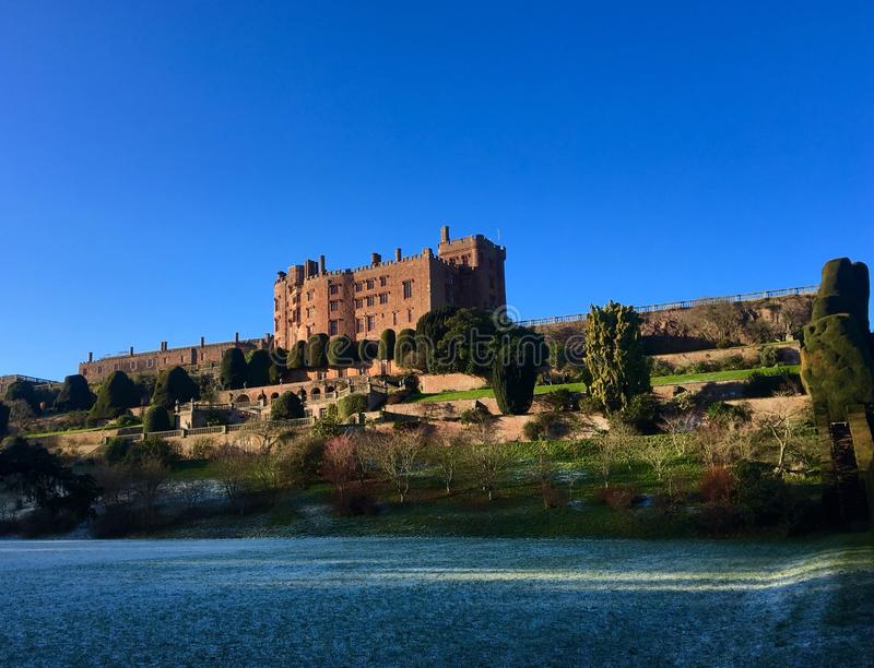 Powis城堡,英国 免版税库存图片