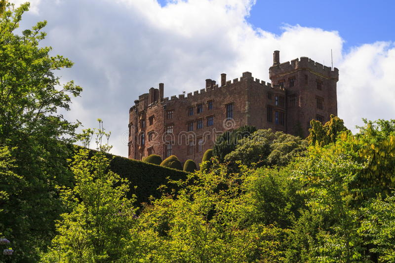 Powis城堡 免版税图库摄影