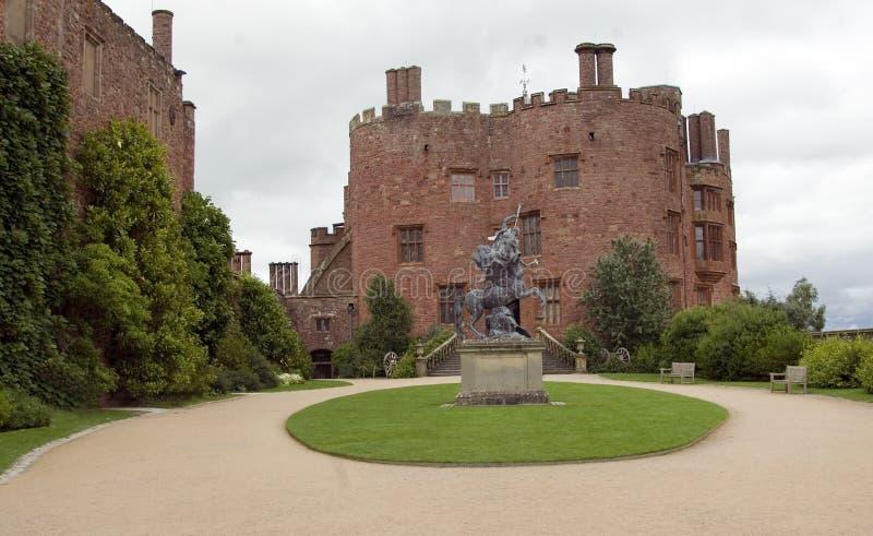 Powis Castle stock image