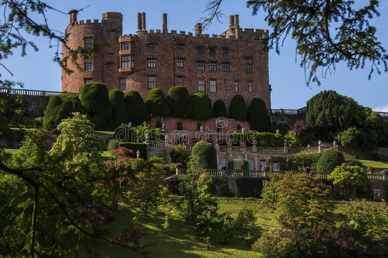 Powis Castle. The terraced gardens of Powis castle, Wales, United Kingdom.  stock images