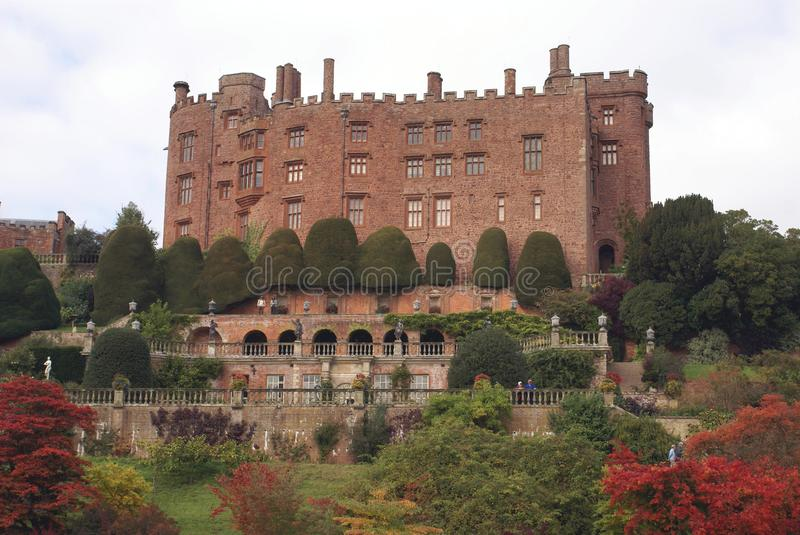 Powis castle, Welshpool, Wales, England stock photos