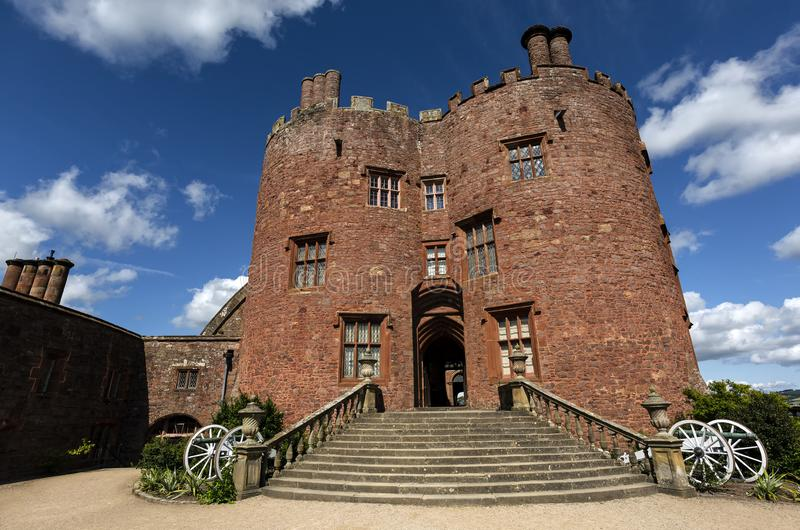 Powis Castle, Welshpool, Wales, United Kingdom. Powis castle. First built in 1200 and remodelled for over 400 years stock photography