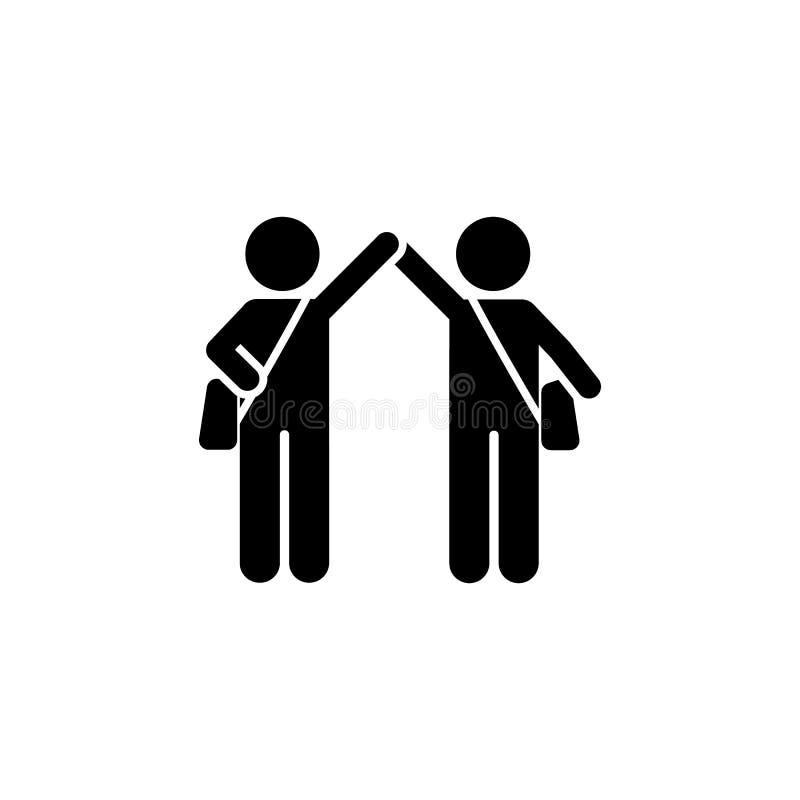Powitania, chłopiec, iść, uczą kogoś ikonę, Element dziecko piktogram Premii ilo?ci graficznego projekta ikona znaki i symbole in ilustracji