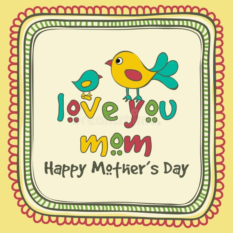 Powitania lub zaproszenia karta dla Szczęśliwego matka dnia świętowania ilustracji