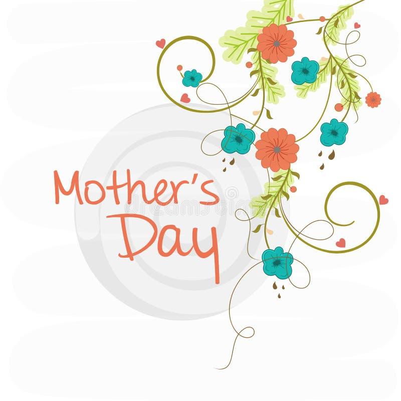 Powitania lub zaproszenia karta dla Szczęśliwego matka dnia ilustracji