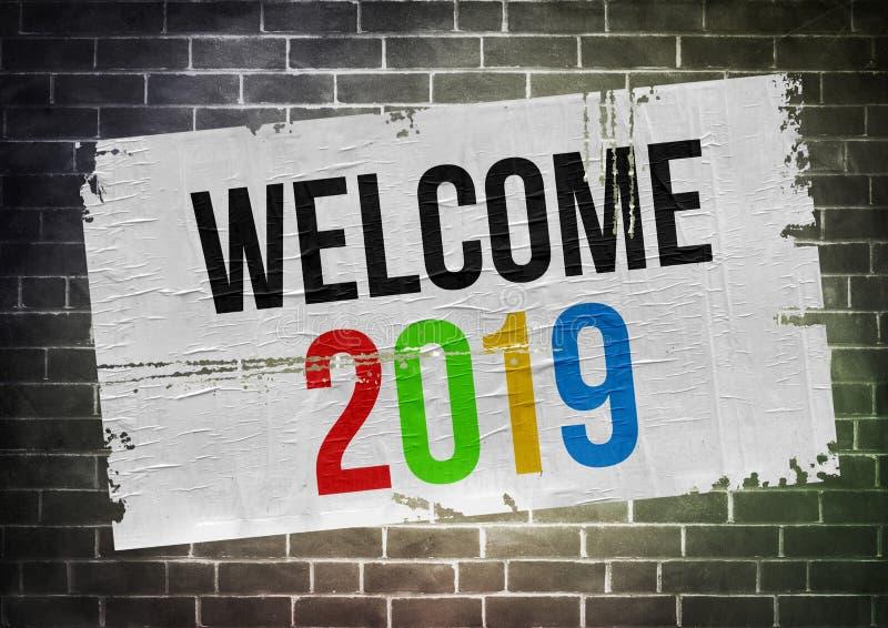 Powitanie 2019 obrazy stock