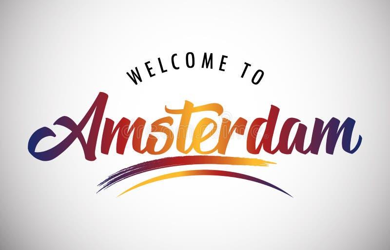 Powitanie Amsterdam royalty ilustracja