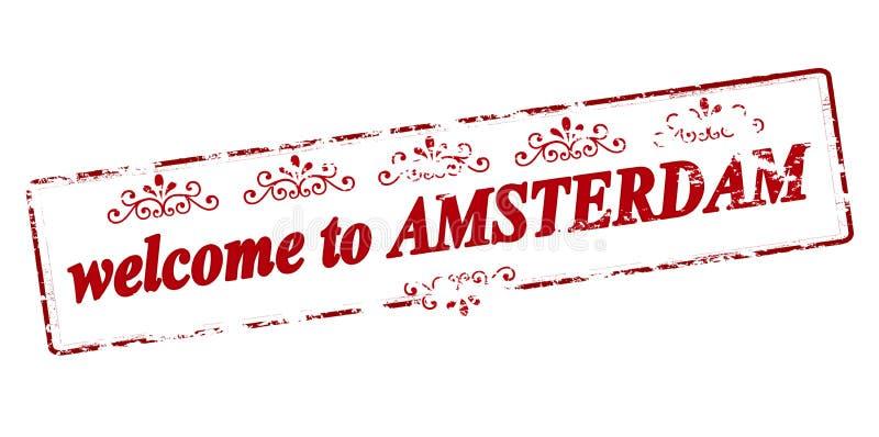 Powitanie Amsterdam ilustracja wektor