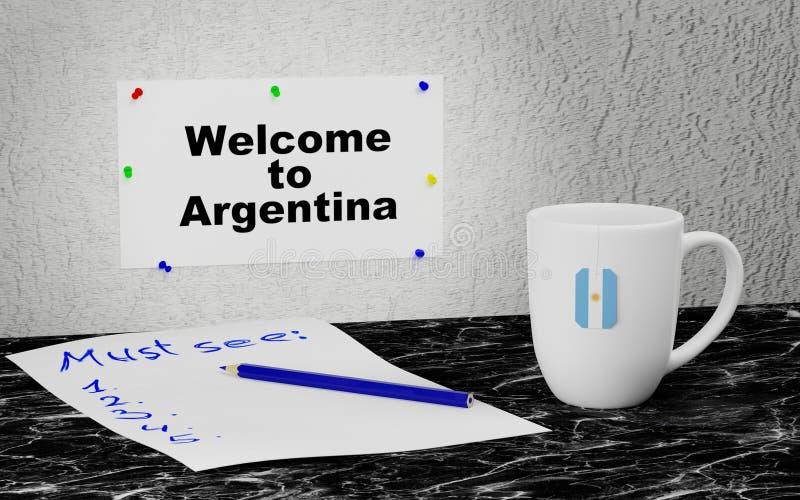 Powitanie Argentyna royalty ilustracja