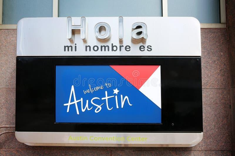 Powitanie Austin znak, SXSW zdjęcia stock