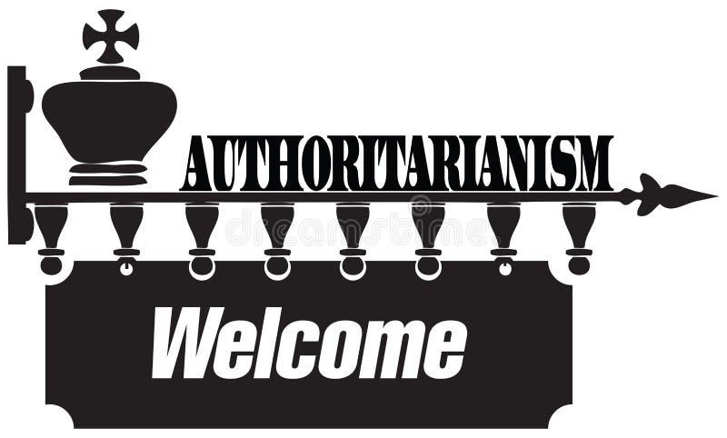 Powitanie autorytaryzm ilustracja wektor