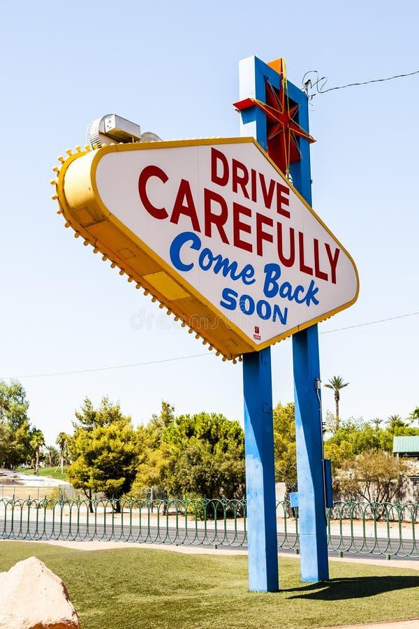 Powitanie Bajecznie Las Vegas znak, Las Vegas, Nevada, usa zdjęcie royalty free
