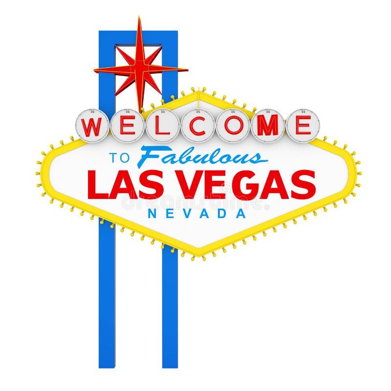 Powitanie Bajecznie Las Vegas znak Odizolowywający ilustracja wektor