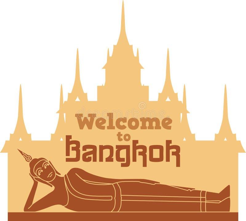 Powitanie Bangkok royalty ilustracja
