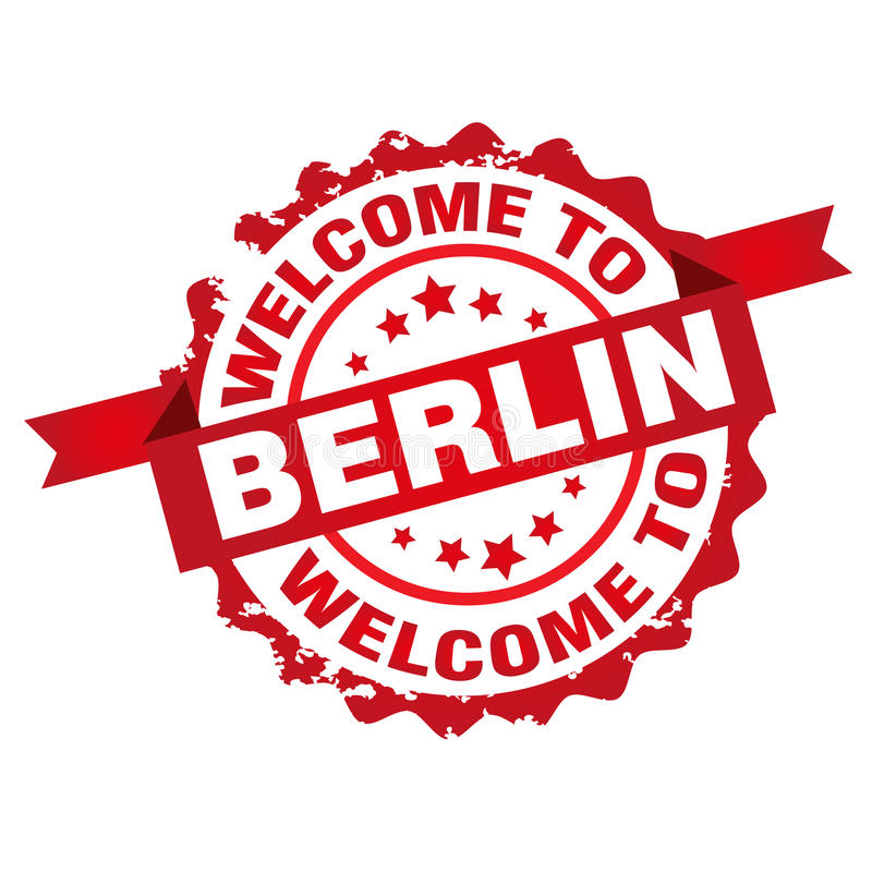 Powitanie Berlin znaczek ilustracja wektor