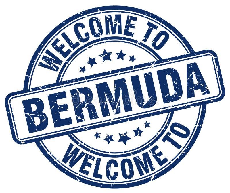powitanie Bermuda znaczek ilustracji