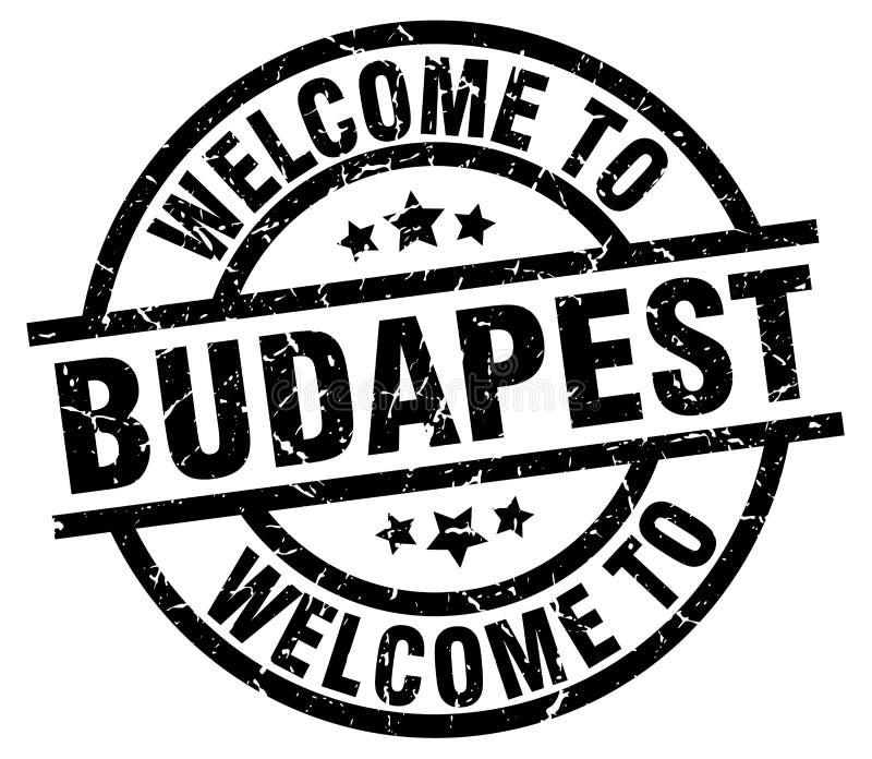 powitanie Budapest znaczek ilustracja wektor