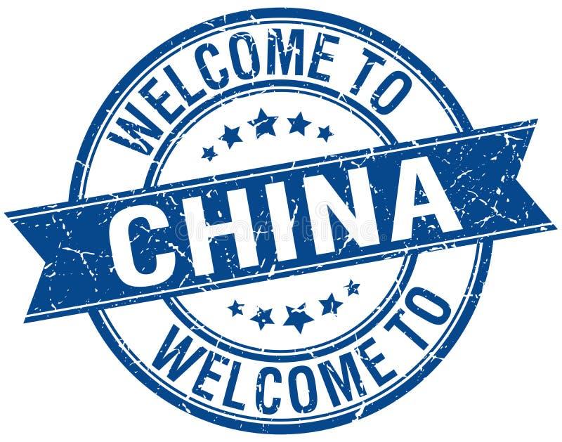 Powitanie Chiny znaczek royalty ilustracja