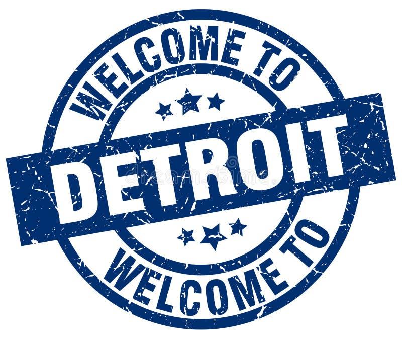 Powitanie Detroit znaczek ilustracji