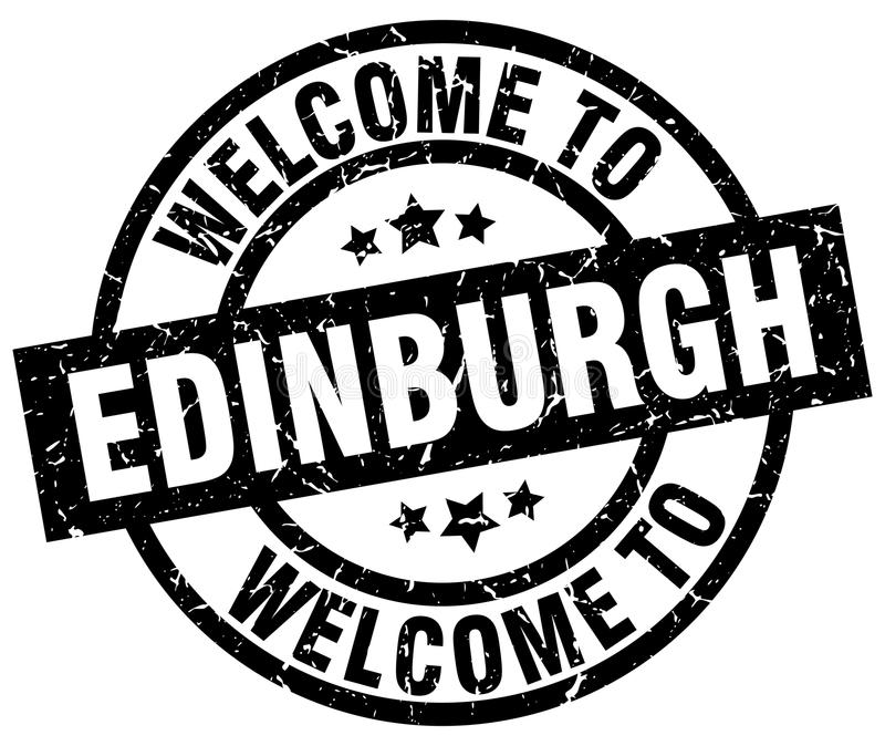 powitanie Edynburg znaczek ilustracji