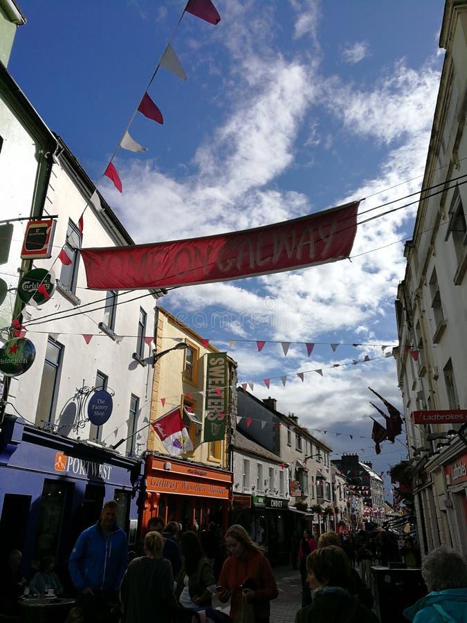 Powitanie Galway obrazy royalty free