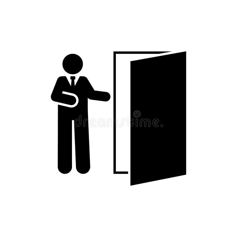 Powitanie, gosposia, organizator, sprzedawca ikona Element hotelowa piktogram ikona Premii ilo?ci graficznego projekta ikona podp ilustracji