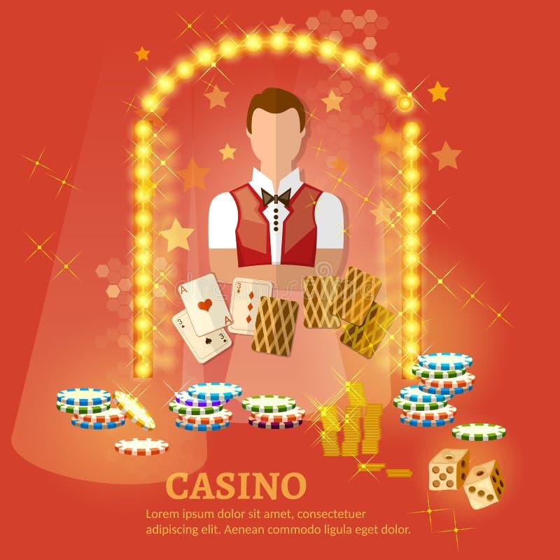 Powitanie kasynowy wektor royalty ilustracja