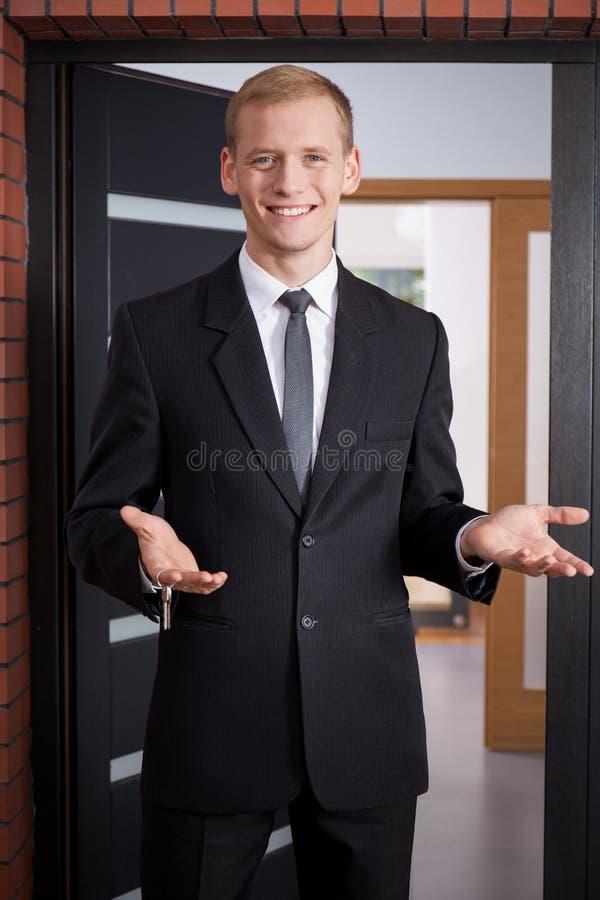 Powitanie klienci zdjęcia stock