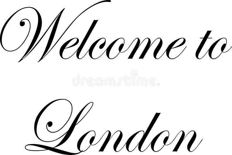 Powitanie London teksta znaka illuastration ilustracja wektor