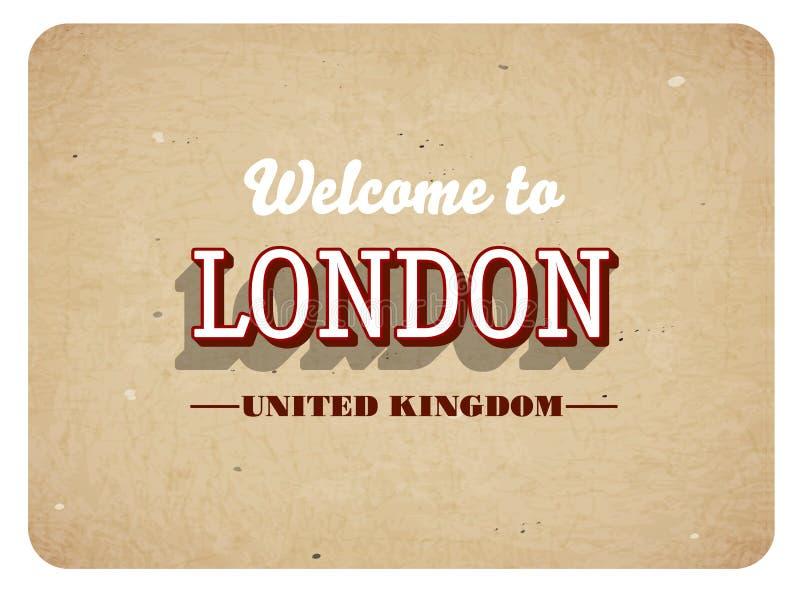 Powitanie Londyn ilustracji