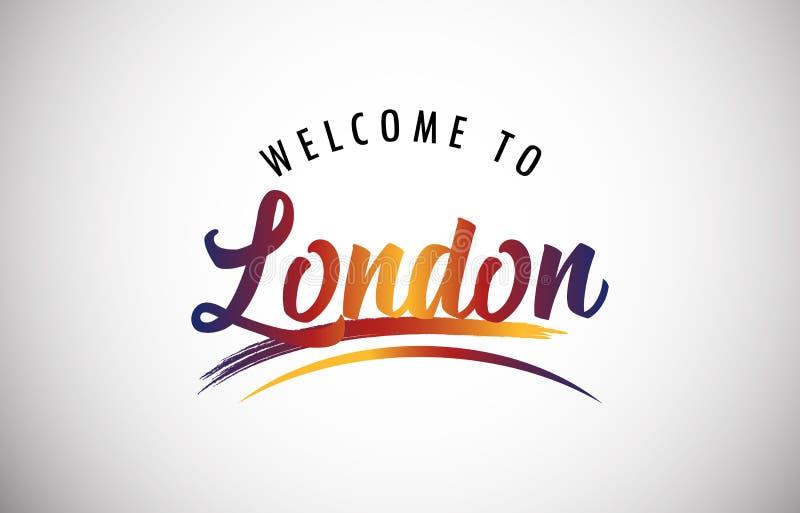 Powitanie Londyn ilustracja wektor