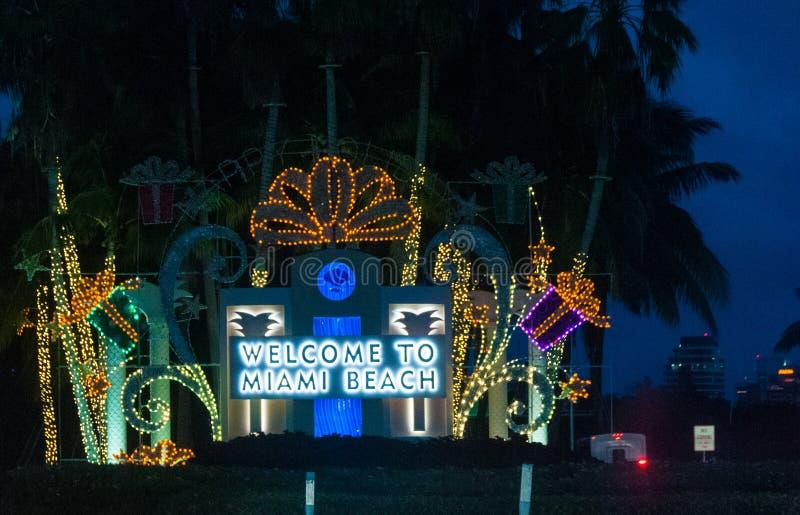 Powitanie Miami plaża obraz royalty free