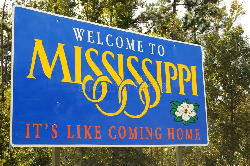 Powitanie Mississippi obraz stock