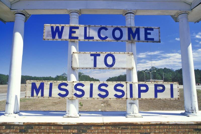 Powitanie Mississippi Znak obraz stock