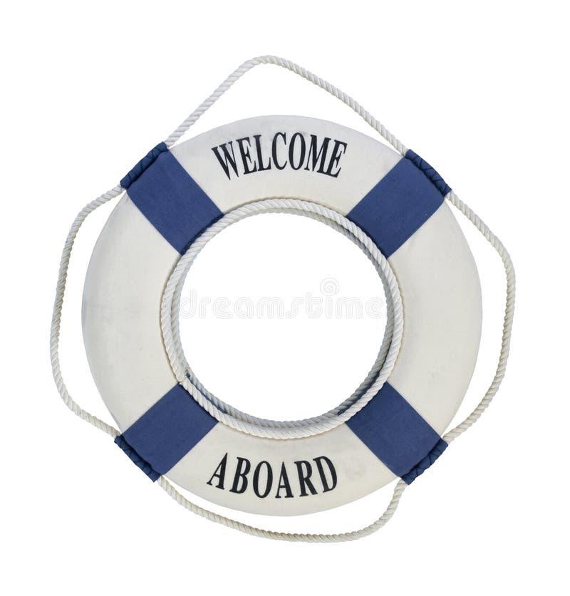 Powitanie Na pokładzie Życia Preserver zdjęcie royalty free
