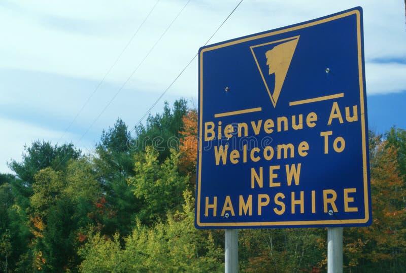 Powitanie New Hampshire Znak obrazy stock