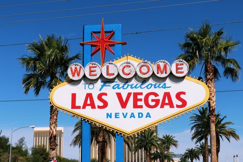 Powitanie Nigdy Spać miasto Las Vegas, Ameryka, usa fotografia royalty free
