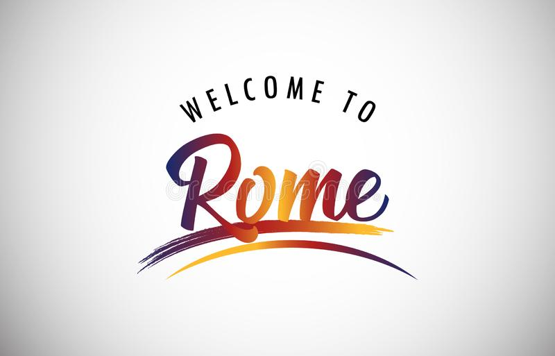 Powitanie Rzym ilustracja wektor