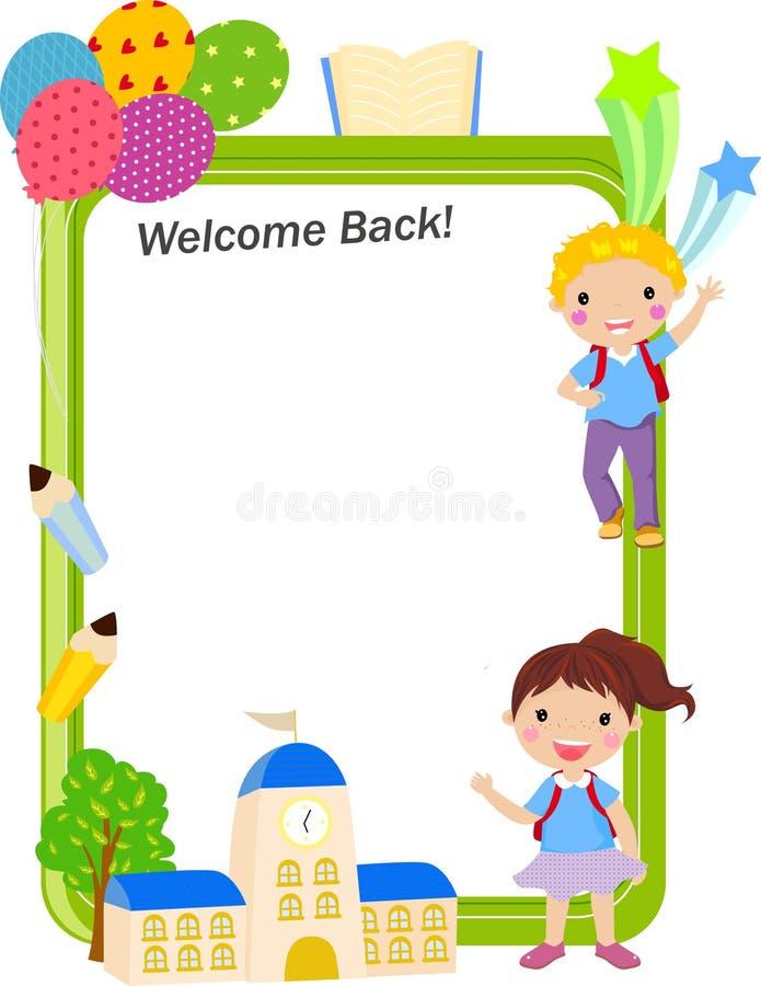 Powitanie szkoła ilustracja wektor
