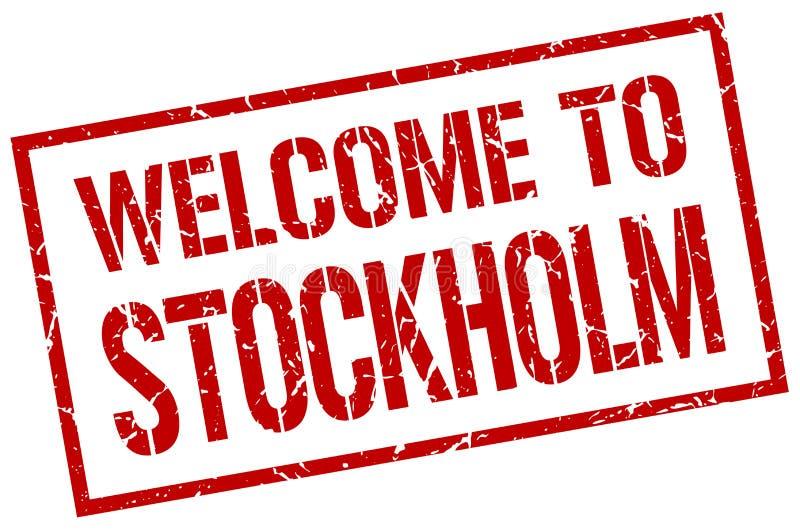 Powitanie Sztokholm znaczek ilustracji