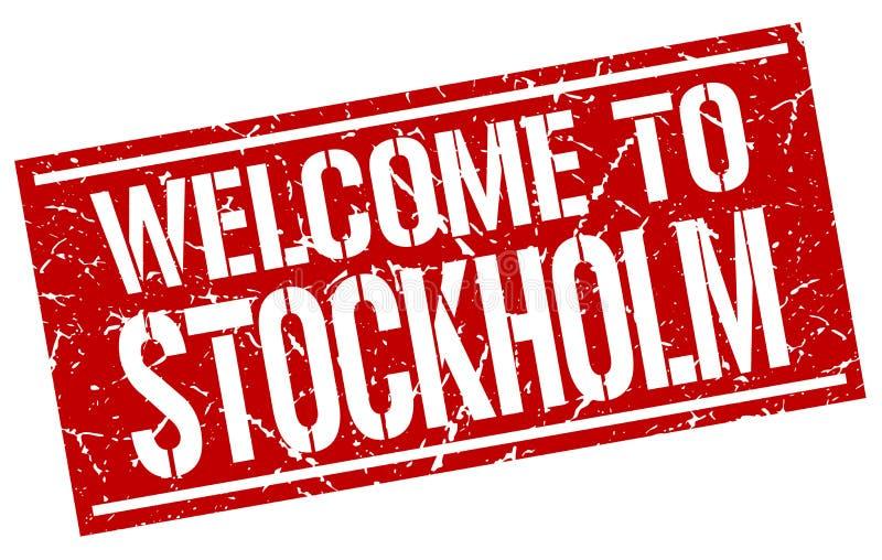 Powitanie Sztokholm znaczek royalty ilustracja