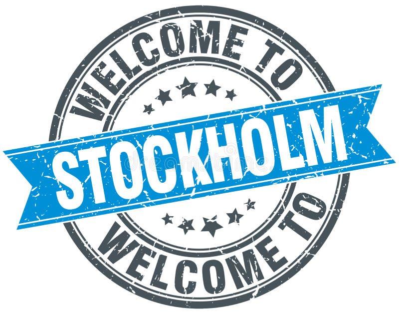 Powitanie Sztokholm znaczek ilustracja wektor