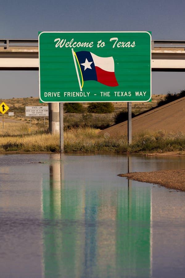 Powitanie Teksas stanu znak obrazy stock