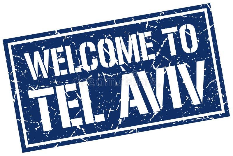 powitanie Tel Aviv znaczek royalty ilustracja