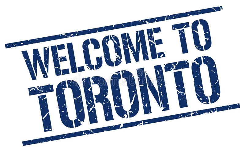 powitanie Toronto znaczek royalty ilustracja